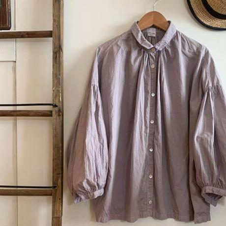 休日のブラウス 10分袖 手染 紫 【web価格】