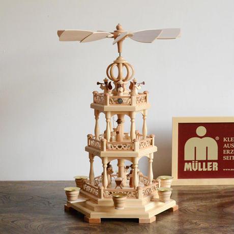 【クリスマス】ピラミッド 聖書物語2層天使付き ※キャンドルなし