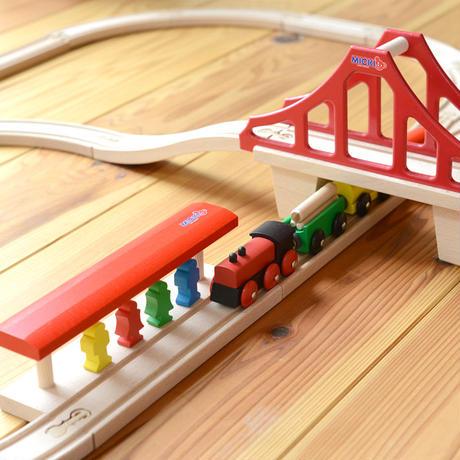 〈3才-〉MICKI  汽車セット つり橋