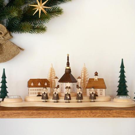 【クリスマス】ティーライトキャンドルスタンド ザイフェンの村
