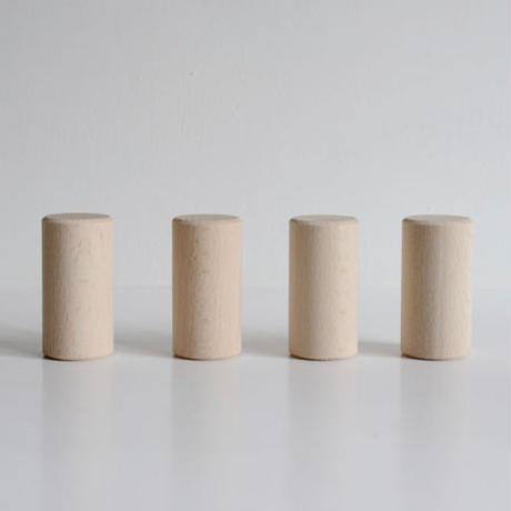 ※取り寄せ品1週間〜2週間※〈3才-〉【積木/追加の積木(基尺3.3cm)】保育つみき 円柱32ピース