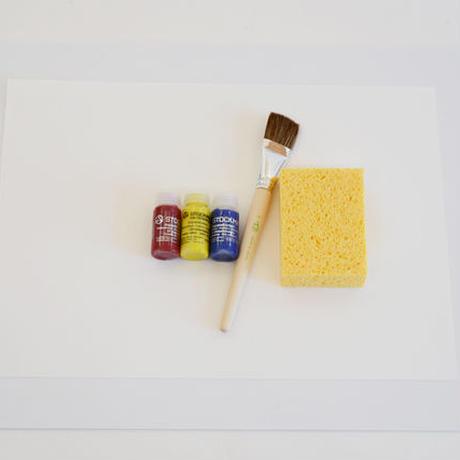 【水彩絵の具用品】ぬらし絵7点セット
