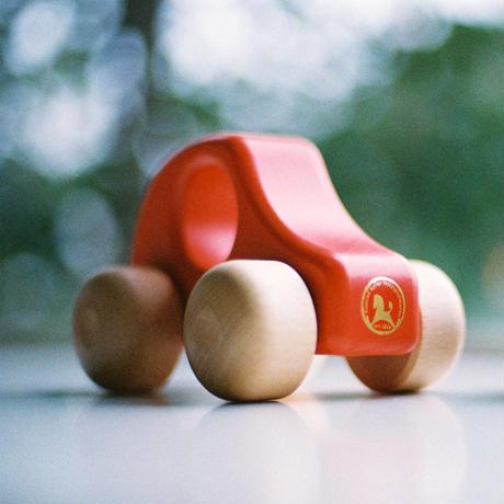 〈6ヶ月-2才〉【ベビー/くるま】PKW 赤/青/白木