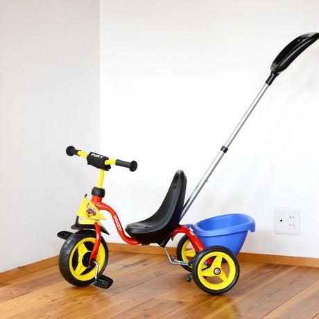 〈2才-〉【乗り物/押し棒付き三輪車】プッキー 押し棒付き三輪車 スペシャル