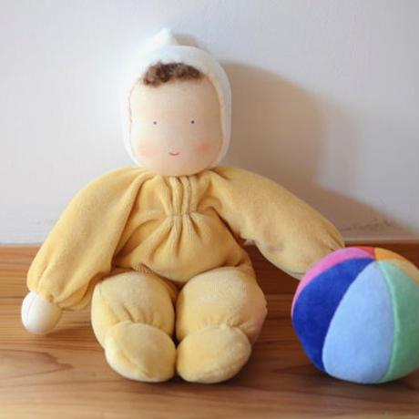 〈2才-7才〉【人形/布製】グリム ベビー  黄 / 青
