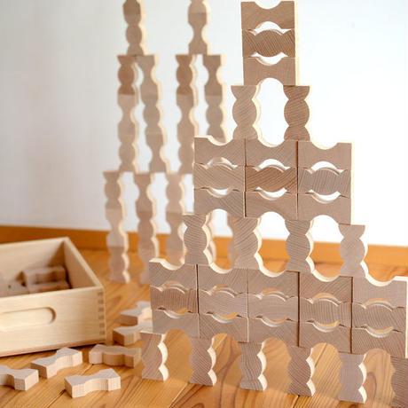 〈4才-〉【積木/追加の積木】カーブ積木 (96ピース)
