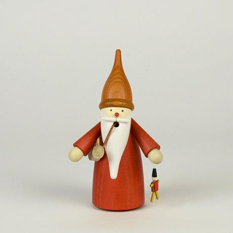【クリスマス】煙出し人形 ひげぼうしの小人とおもちゃ 赤