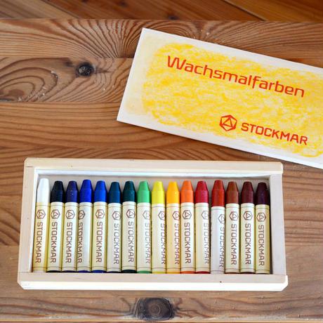 〈3才-大人〉【クレヨン】みつろうスティッククレヨン 16色木箱