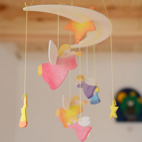 〈3ヶ月-〉【ベビー/見る遊び】モビール 天使