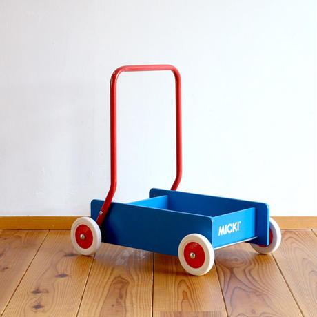 〈10ヶ月-〉【押して歩く玩具】MICKI ベビーウォーカー(手押し車)