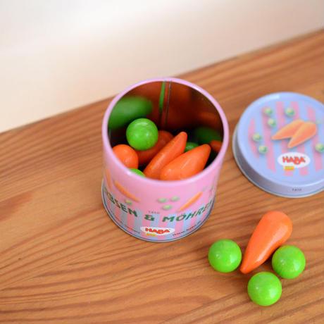 〈3才-〉HABA 缶入り 豆とにんじん