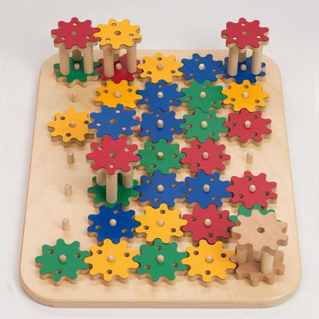 ※取り寄せ品/納期:1週間-10日程※【園・団体向け】TAG 平面と空間の動きを理解するギアパズル  (4才-)