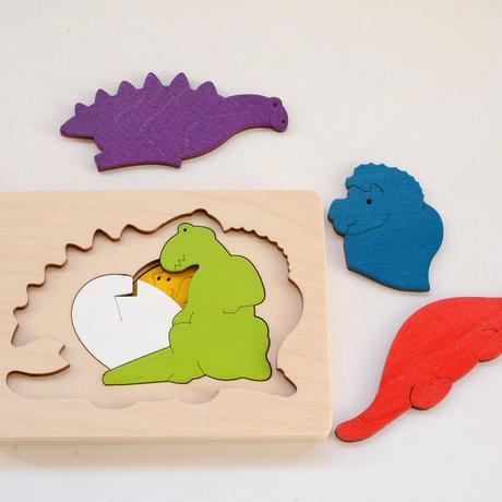 〈2才-3才〉3重パズル・恐竜(6ピース)