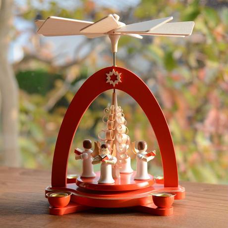 【クリスマス】ピラミッド 赤 天使4人