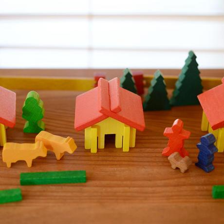 〈2才-大人〉【ミニチュア積木】【追加の積木】スイスの家
