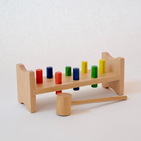 〈2才-〉【叩く遊びの玩具】Dハンマートイ