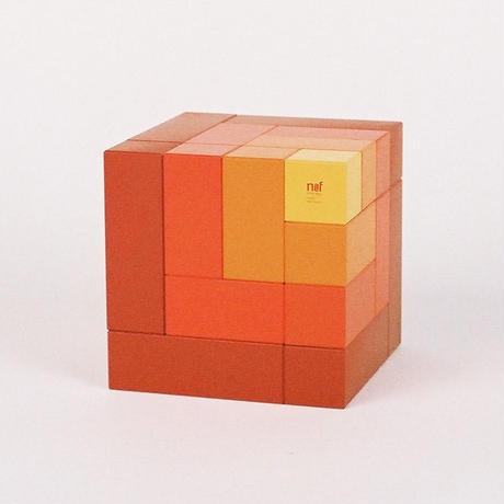 〈6才-〉【積木/「次の積木」造形遊び】キュービックス 赤