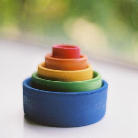 〈1才-〉【「形」の玩具】【積木の前の積木/はめ込み玩具】はめこ 青