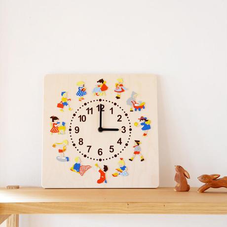 【壁掛け時計】時計 子供の一日
