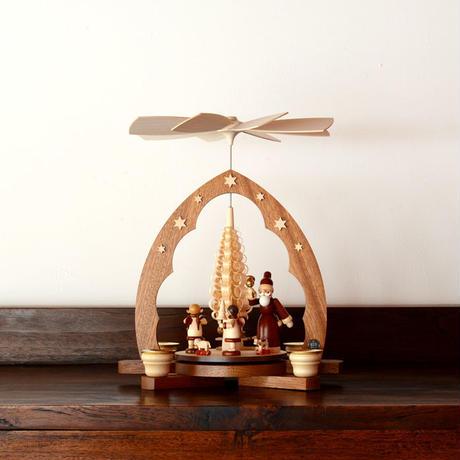 【クリスマス】ピラミッド サンタクロース もみの木1層