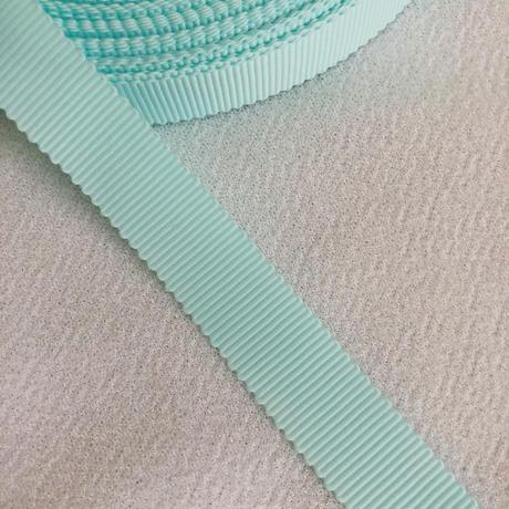 高密度グログランリボン 15mm mint