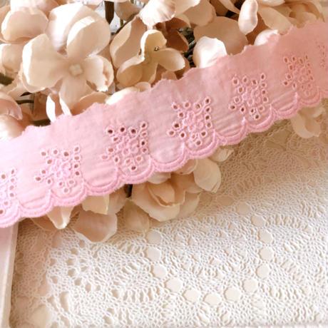 cotton レース baby pink