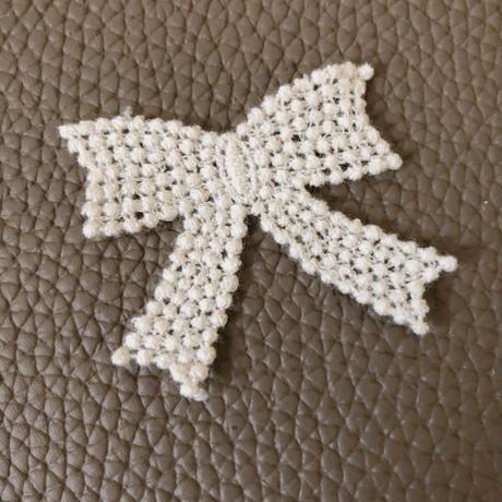 petit ribbonモチーフ ivory