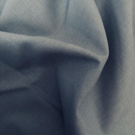 linen cotton  blue gray