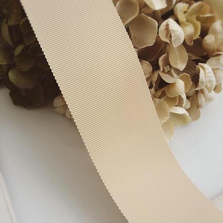 高密度グログランリボン milktea beige 50mm