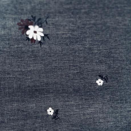 petit flowers   navy gray