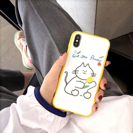 【N745】★iPhone 6  / 6sPlus / 7 / 7Plus / 8 / 8Plus / X / Xs ./XR/XsMax ★iPhone ケース 猫ちゃん