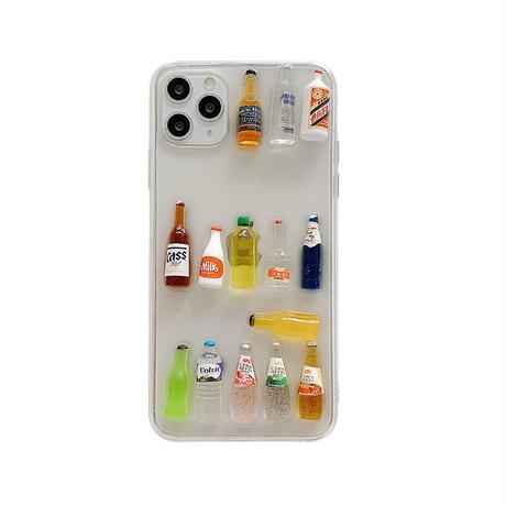 【C147】★iPhone 11/11Pro/11ProMax/7/7Plus /8/8Plus /X/XS/ XR/Xsmax ★  ケース Drink Bottles
