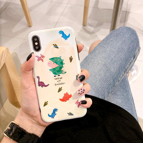 【N523】★iPhone 6 / 6Plus / 6sPlus / 7 / 7Plus / 8 / 8Plus / X / XS/XR/Xsmax ★iPhone ケース Dinosaur