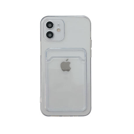【C964】★ iPhone 13/13pro/12/12pro/11/ProMax /7/7Plus/8/8Plus/XS/XR/Xs max★ シェルカバーケース クリアケース カード入れる