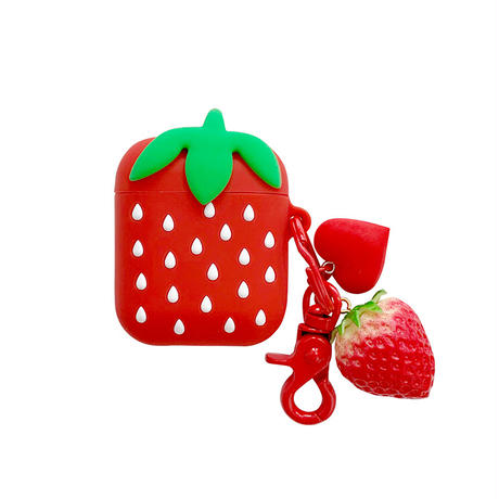 【MS202】♡Acessories♡airpods ケース カバー  Strawberry