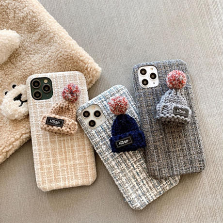【N933】★ iPhone 11/11Pro/11ProMax/7 / 7Plus / 8 / 8Plus / X/ XS / Xr /Xsmax ★  ケース ファー Cap