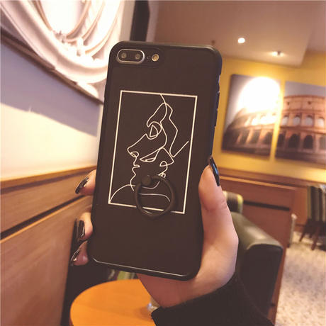 【N714】★ iPhone 6 / 6sPlus / 7 / 7Plus / 8 / 8Plus / X /XS /XR/Xs max★ シェルカバーケース ART LINE