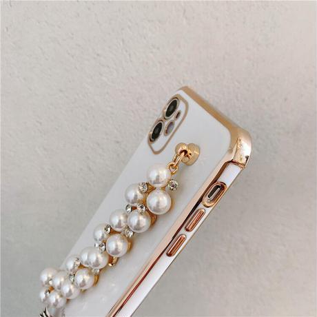 【C729】★ iPhone11/Pro/ProMax /7/7Plus / 8 / 8Plus / X /XS /XR/Xs max★ シェルカバーケース パール