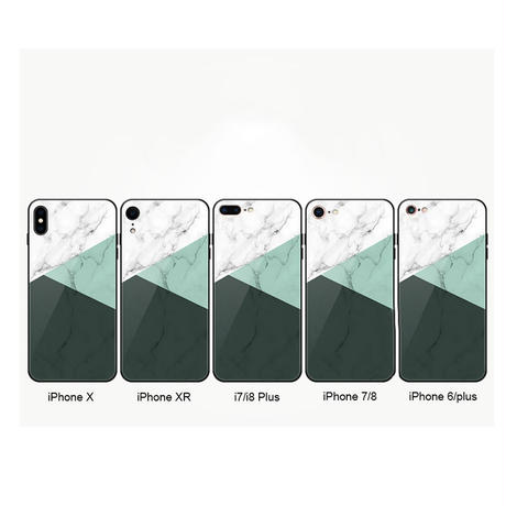 【N162】★ iPhone 6 / 6s / 6Plus / 6sPlus / 7 / 7Plus / 8 / 8Plus / X ★ シェルカバー ケース Marble Green オトナ