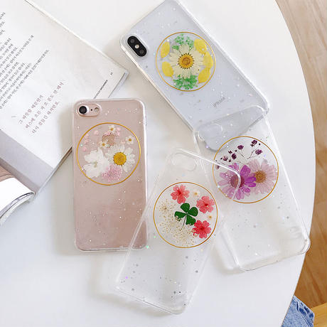 【N741】★ iPhone 6 / 6sPlus / 7 / 7Plus / 8 / 8Plus / X/ XS / Xr /Xsmax ★  シェルカバー ケース Flower