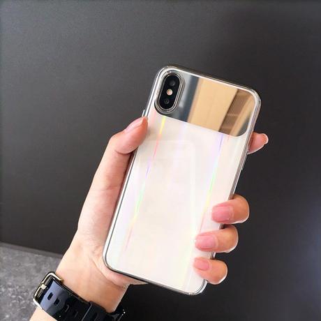 【M901】★ iPhone 6 / 6s / 6Plus / 6sPlus / 7 / 7Plus / 8 / 8Plus / X ★ シェルカバー ケース Half Mirror オトナ