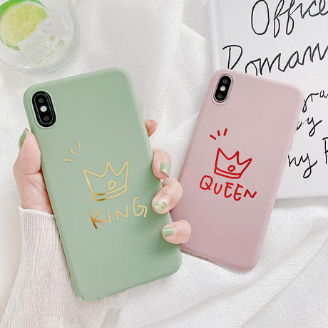 【N707】★ iPhone 6 / 6sPlus / 7 / 7Plus / 8 / 8Plus / X /XS /XR/Xs max★ シェルカバーケース King OR Queen