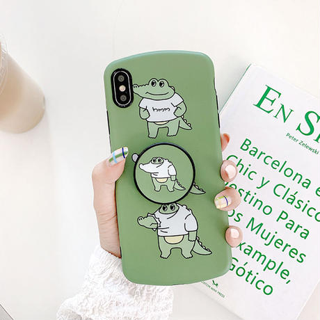 【N721】★iPhone 6 / 6sPlus / 7 / 7Plus / 8 / 8Plus / X / Xs / XR/ Xsmax ★iPhone ケースBaby crocodile