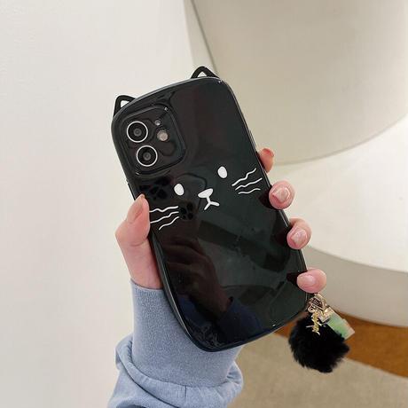 【C929】★ iPhone 12/11/ProMax /7/8Plus/ X /XS /XR/Xs max★ シェルカバーケース ネコ