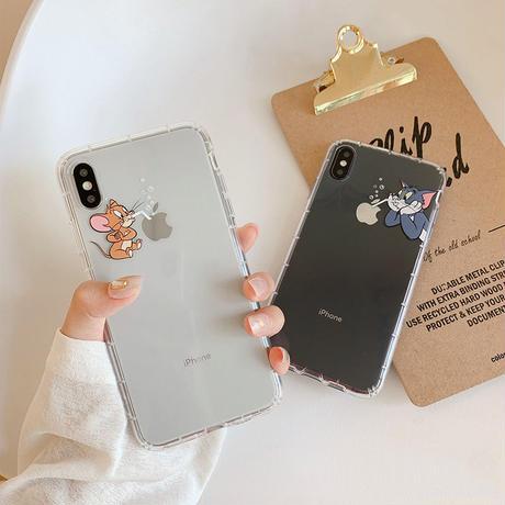 【N655】★ iPhone 6 / 6sPlus / 7 / 7Plus / 8 / 8Plus / X /XS /XR/Xs max★ シェルカバーケース cat or rat