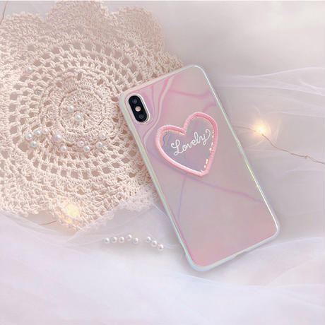 【N329】★ iPhone 6 / 6sPlus / 7 / 7Plus / 8 / 8Plus / X/XS / Xr /Xsmax ★ シェルカバー ケース Heart♥
