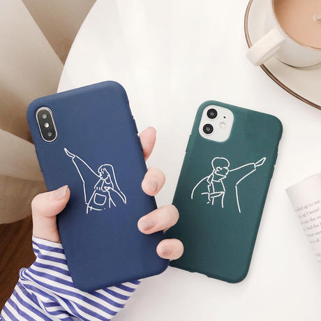 [ 国内発送 ]【M945】★ iPhone 11/11Pro/11ProMax/7/7Plus/8/8Plus/X/XS/XR/XSMAX★ シェルカバー ケース Couple case