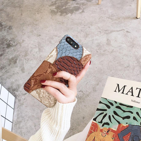 【M320】★ iPhone1/Pro/ProMax/6 /6Plus /6sPlus /7/ 7Plus /8/8Plus / X/XR ★ iPhone Case パッチワーク サイド お洒落