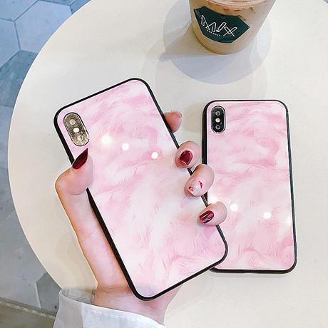 【M545】★iPhone 6 / 6s / 6Plus / 6sPlus / 7 / 7Plus / 8 / 8Plus / X★ピンク iPhone Case マーブル模様のiPhone Case