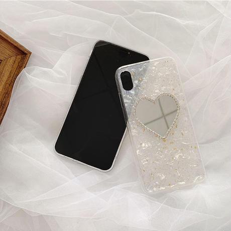 【N317】★iPhone12/11/11Pro/11ProMax/6/ 6sPlus/7 / 7Plus /8/ 8Plus / X/ Xs /XR/XSMAX★iPhone ケース ハート ミラー